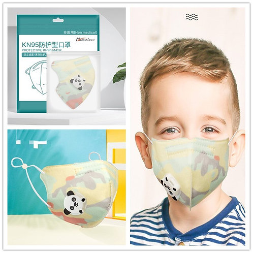 KN95 Children's Mask Kids Mask 95% Filtration Dustproof Anti-Fog Dust Girls Boys