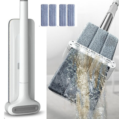 Magic Automatic Dehydration Hands Free Washing Lazy Flat Mop Squeeze Mops