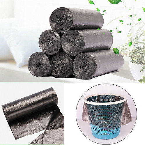 5 Rolls/Lot Large Garbage Bags Black Thicken Disposable  45x50CM