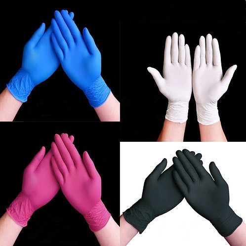 100 Pieces Disposable Gloves Black Nitrile Gloves Wholesale Rubber Latex Gloves