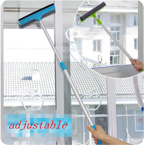 1pc Glass Window Cleaner 2-In-1 Cleanning Brush Wiper Adjustable
