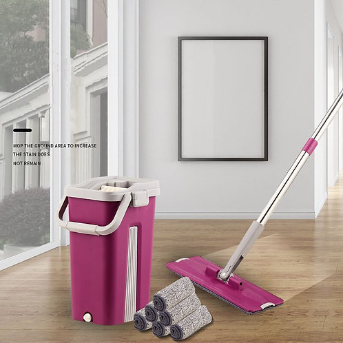 Home Plane Automatic Thicken Mop Super Fiber Cleaning Wet and Dry Dual-Purpose