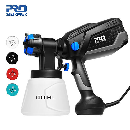 600w Electric Spray Gun Household Convenience Spray Paint Four Nozzle 1000ml