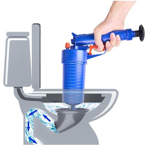 Toilet Dredge Plug Air Pump Blockage Remover Sewer Sinks Blocked Cleaning