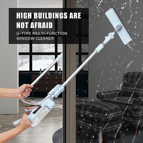 Window Glass Wiper Cleaner Brush Rod Scrubber Telescopic Window Cleaner