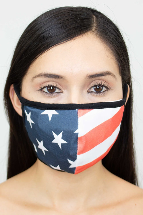 American Flag Print Face Mask