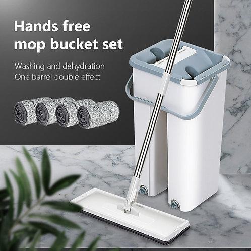 Floor Squeeze Magic Automatic Mop Flat Buckets Avoid Hand Washing