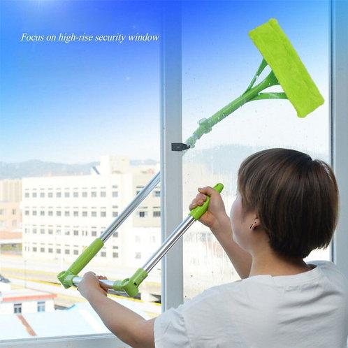Telescopic Washing Cleaning Mops Brush Glass Window High-Rise Hand Spin Sponge