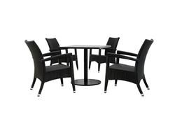 新羅馬+咖啡色鋁板方桌