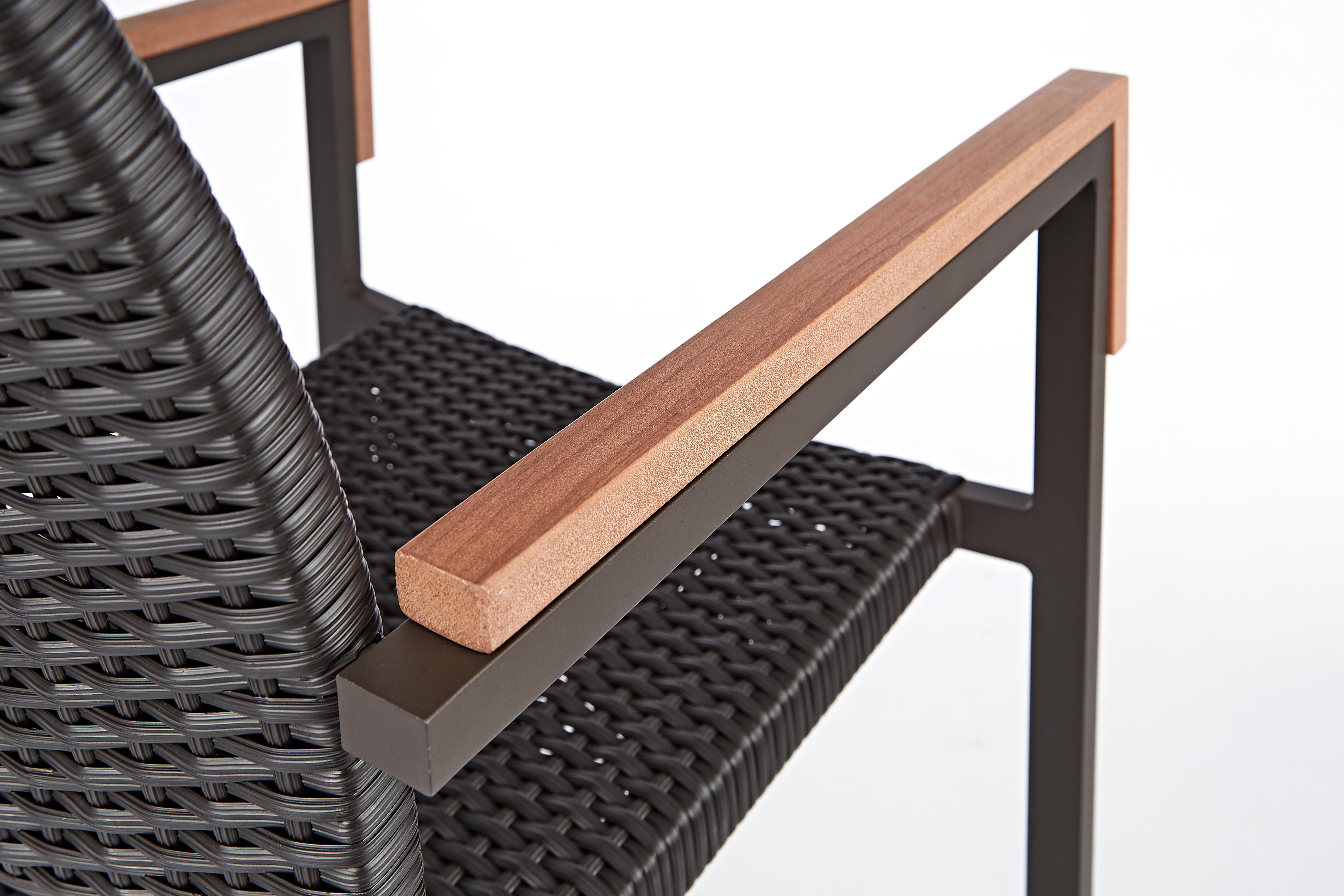巴西高腳椅 黑色/細節