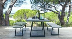 Lavastone系列 梯形長桌/梯形長椅