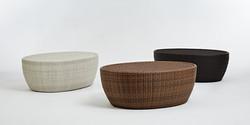 橢圓桌 白色/圓木色/黑朱古力色