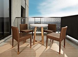 梯形圓桌+卡薩布蘭加系列單椅