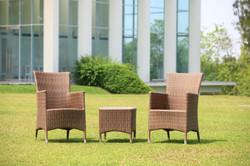 新朵莉系列休閒椅組 原木色