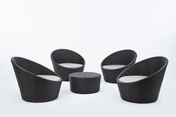 高背半圓系列沙發 一桌四椅