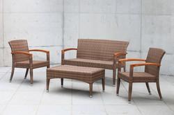 羅馬系列桌椅組 原木色
