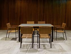 坎伯爾長桌+扶手椅
