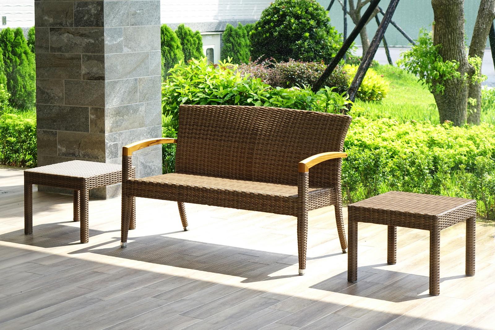 羅馬系列休閒長椅+四腳桌