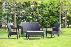 新羅馬系列休閒椅組 黑朱古力色