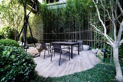 塑木長桌+貝登椅