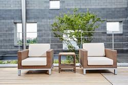 帝統系列沙發+雙層編藤桌