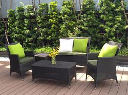 新朵莉系列休閒椅組 黑朱古力色