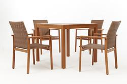 密斯特系列4人座方桌椅