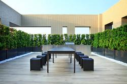 新森林系列 胡桃木色長桌 / ㄇ型板凳