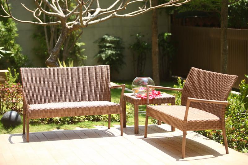 熱帶系列雙人椅+四腳桌