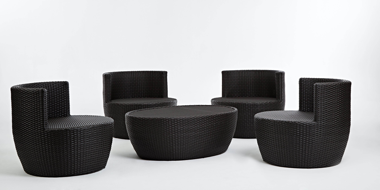 安杰洛斯系列休閒椅+橢圓椅 黑朱古力色