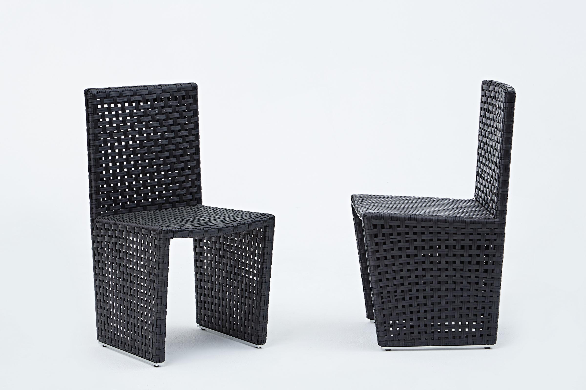 和芬黑色編籐椅