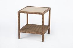 編藤雙層桌