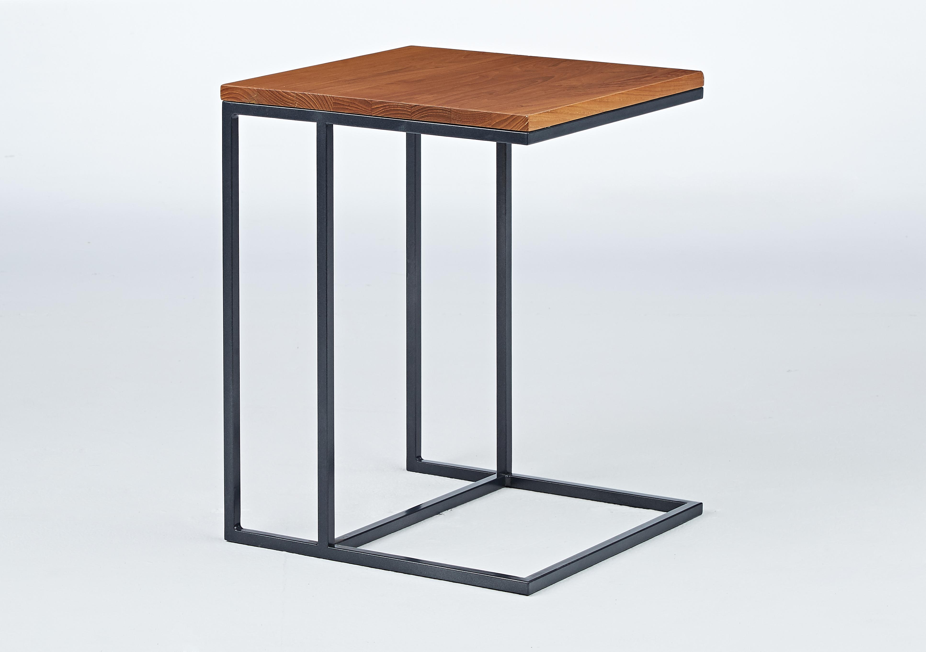 塑木ㄈ型邊桌