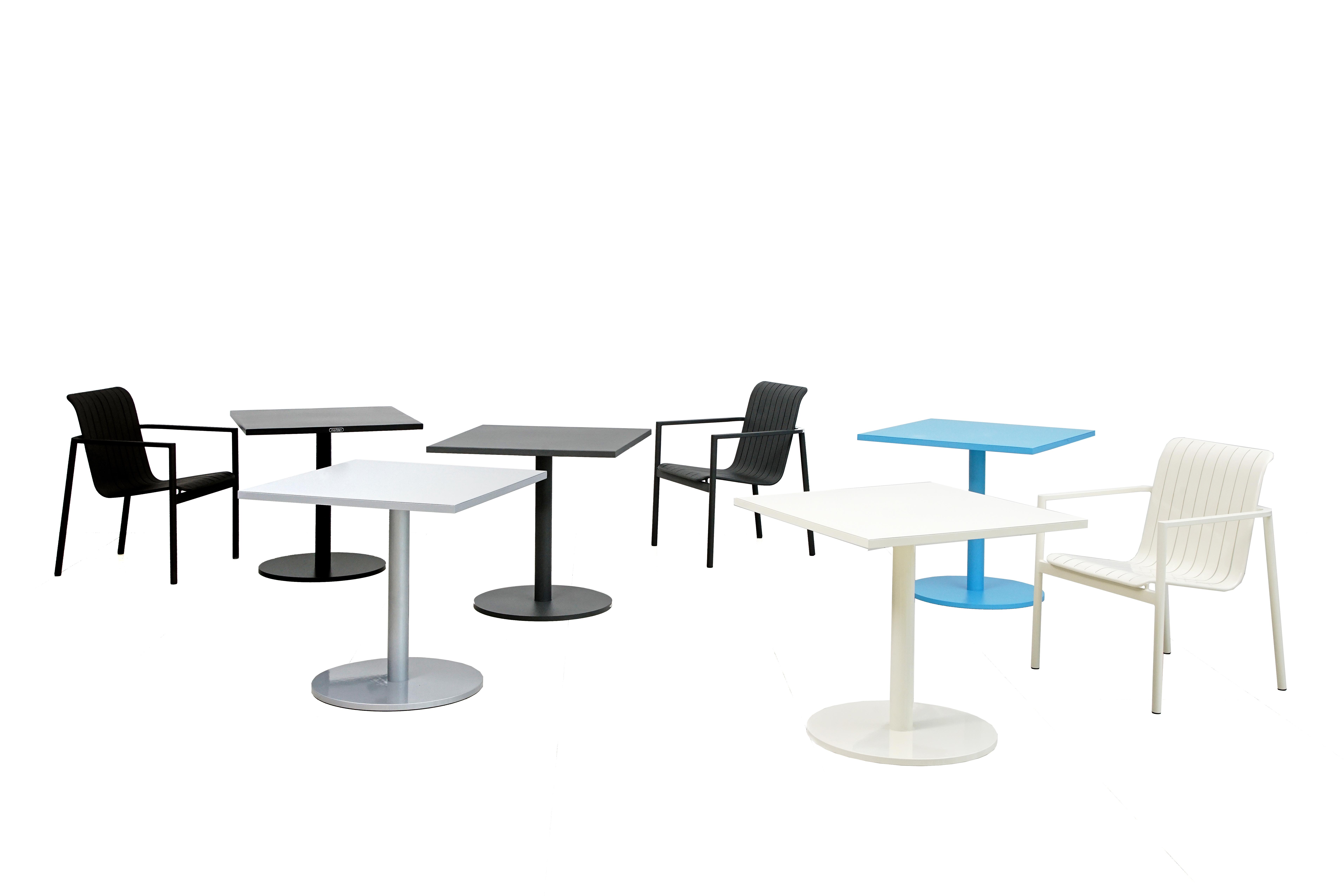 歐登系列鋁板椅+鋁板方桌
