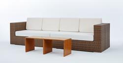 島嶼系列長沙發+ㄇ型塑木桌