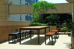 新森林長桌+編藤椅凳(S)