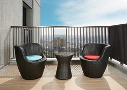鵝卵石系列休閒椅+非洲鼓小圓桌