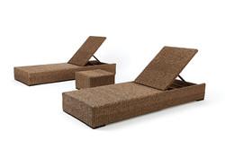 卡列斯系列躺椅/捲藤方几
