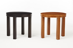 塑木圓形邊桌