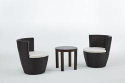 蓓羅系列休閒椅+塑木圓形邊桌