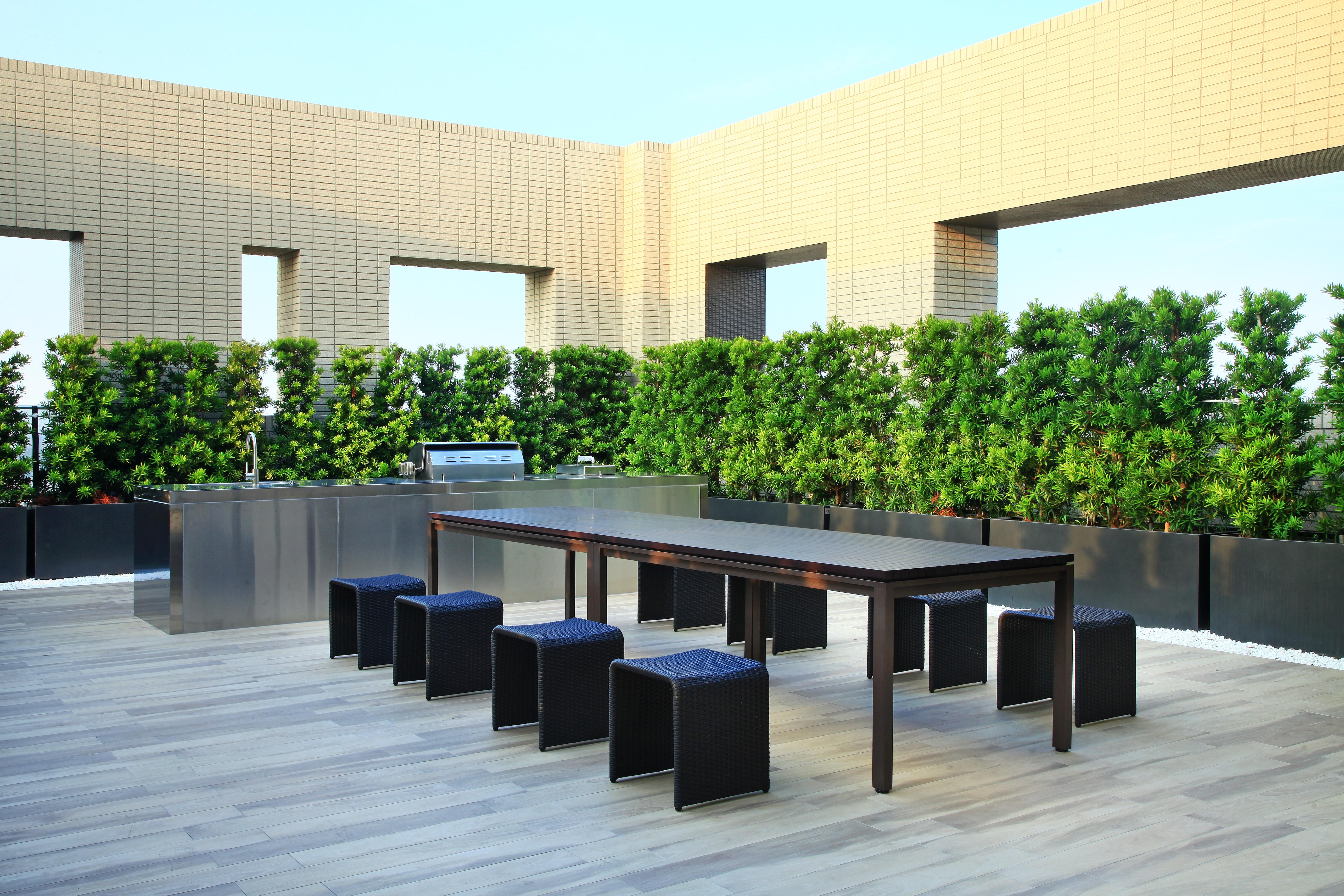 新森林系列 胡桃木色長桌 / 板凳
