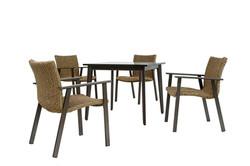 sonata咖啡桌+緞木色捲藤