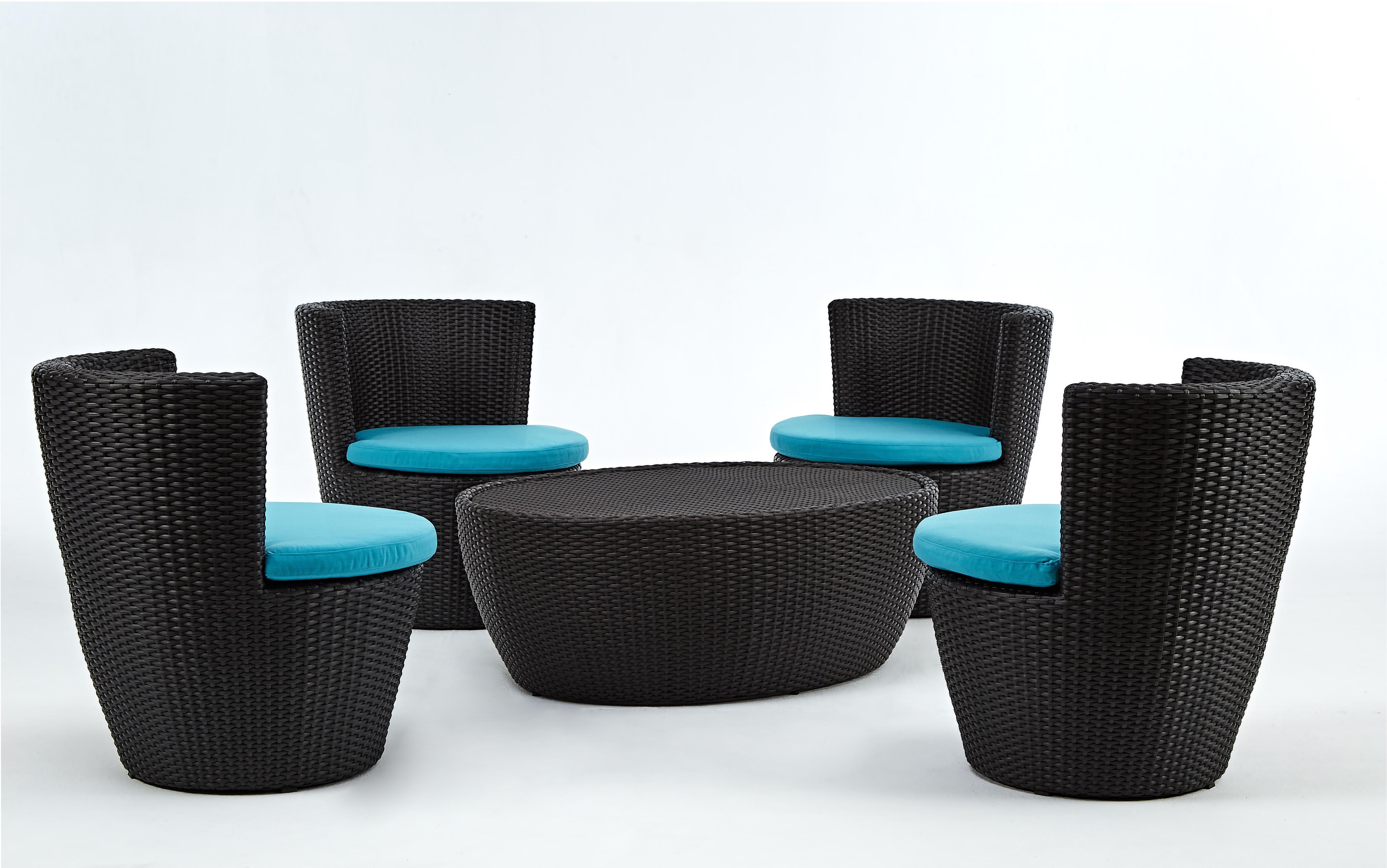 蓓蘿系列休閒椅+橢圓桌