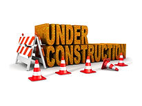 under construction! with traffic cones.j