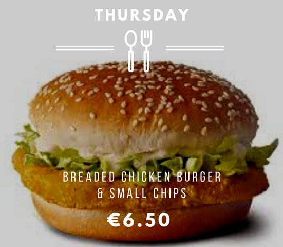 Silvio's Thursday Chicken Burger