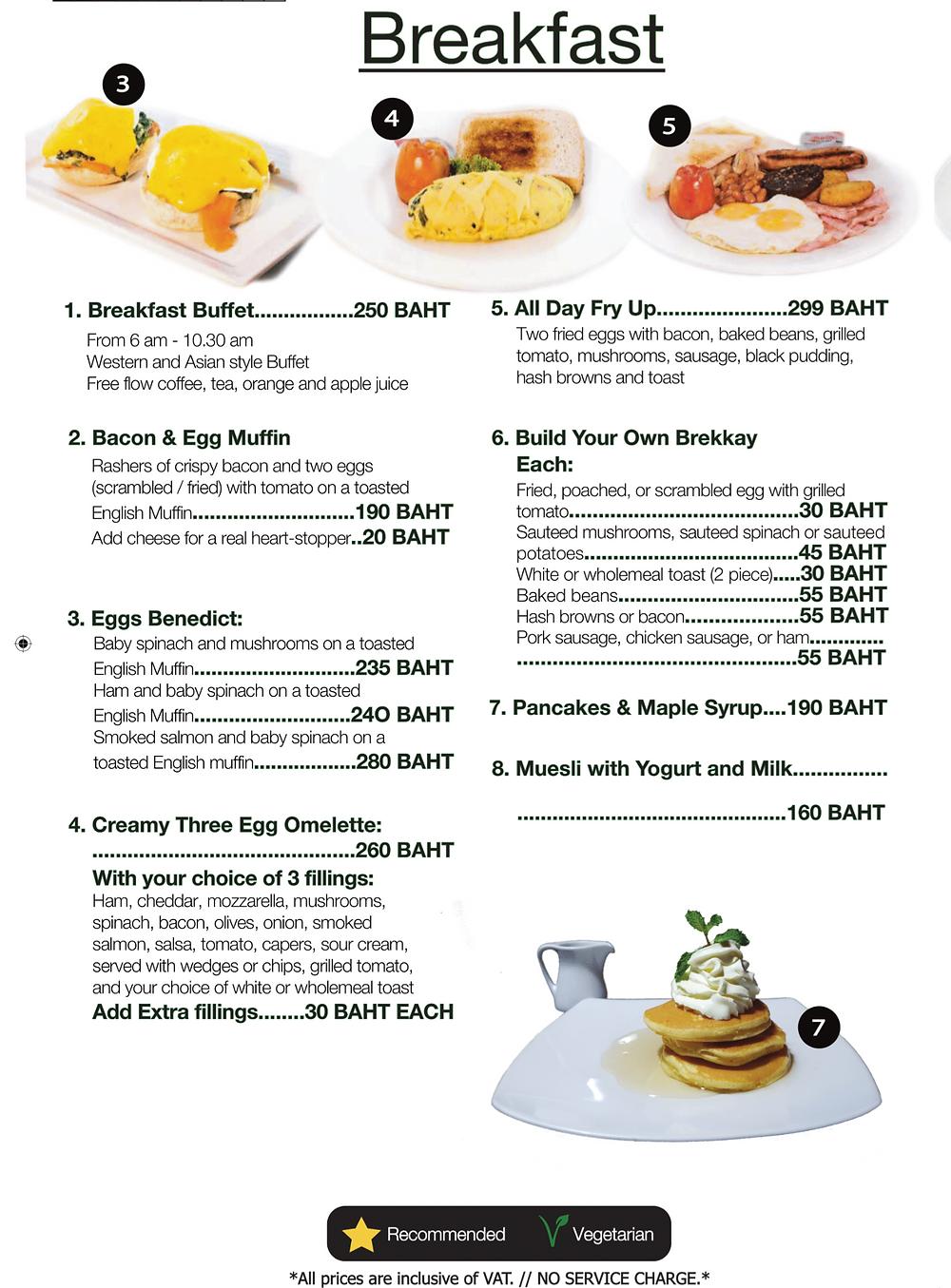 Mulli's Sportsbar Breakfast Menu