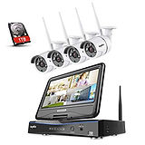 Wire Free Cameras Wireless NVR 4 Channel