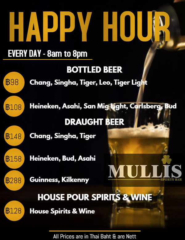 Mulli's Happy Hour