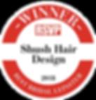 Shush Hair Design Best Bridal Awards