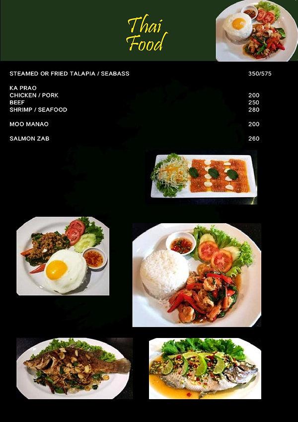 O'Malley's Bangkok Thai Food Menu